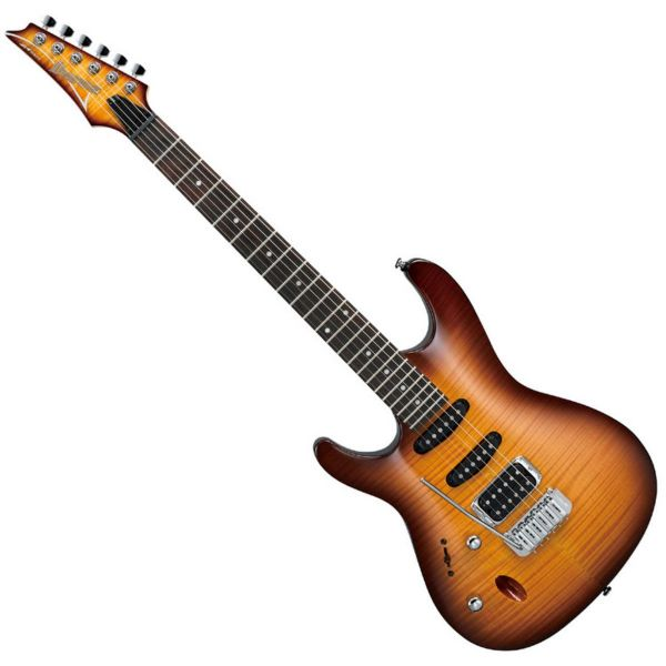 Ibanez SA160FML-BBT SA Series Left Handed Electric Guitar, Brown Burst